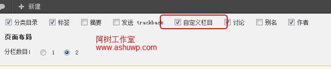 wordpress开启自定义字段