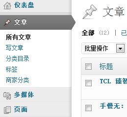 wordpress自定义分类法