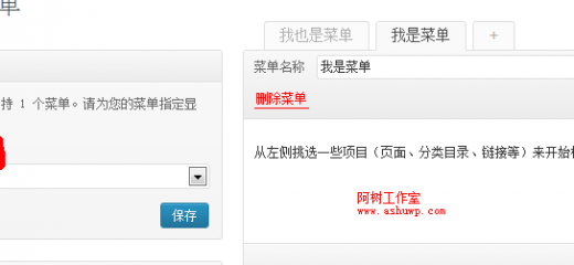 wordpress菜单使用教程